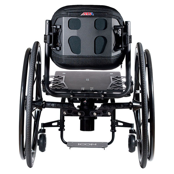Icon wheelchair back view