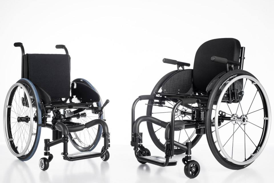 Icon pediatric and adult wheelchairs 45deg views